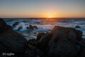 aslimomar state beach, california, limited edition, fine art prints, photograph, coastline, pebble beach, pacific grove, sunset, waves, monterey peninsula,