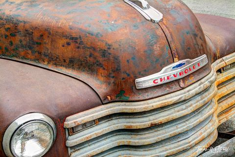 limited edition, museum grade, fine art, prints, photograph, truck, pickup truck, england, cotswolds, UK, british, chevrolet, small town, old vehicles,
