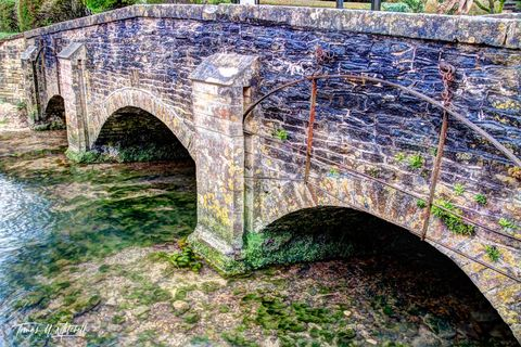 England, Castle Combe, Cotswolds, Bridge, Old bridges, Museum Grade, Fine Art, photograph