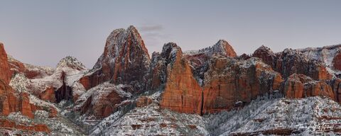 kolob canyons, zion national park, utah, panoramic, clouds