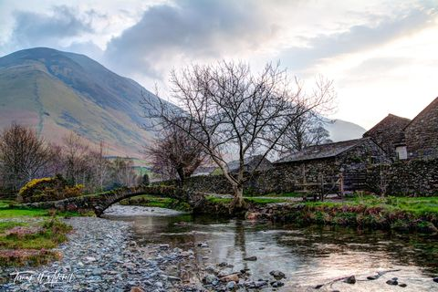 limited edition, museum grade, fine art, prints, wasdale head, england, lake district, cumbria, hamlet, agricultural, A595, mountain, scafell pike, photogrph, sheep, clouds, fog, sky, color, stream, b