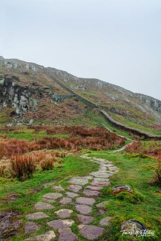 limited edition, gallery quality, prints, photograph, hadrians wall, england, pathway, steel rigg car park, path, wall, ancient