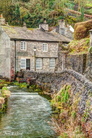 limited edition, museum grade, fine art, prints, cottage, castleton, england, peak distract, village, doors, windows, peakshole water, photograph, bridge, stream