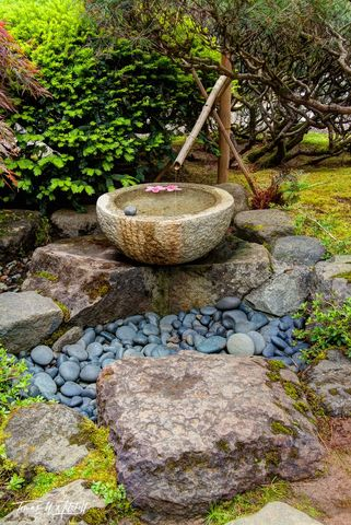 limited edition, fine art, prints, japanese garden, portland, oregon, fountain, running water, serenity,