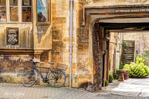 limited edition, museum grade, fine art, prints, photograph, cotswolds, england, bike, small town
