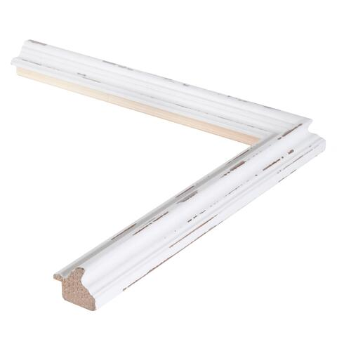 Country Rustic White 1-7/16 Inch