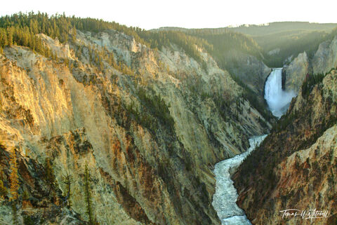 yellowstone national park, limited edition, fine art prints, photograph, artist point, lower yellowstone falls,