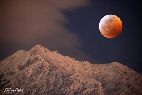 limited edition, fine art, prints, twin peaks, utah, lunar eclipse, super moon, wolf moon, compilation, mountains,