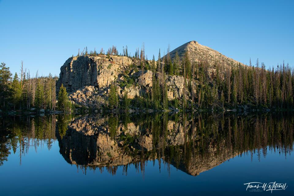 Cliff Lake in the Uinta Mountains, Utah, reflection