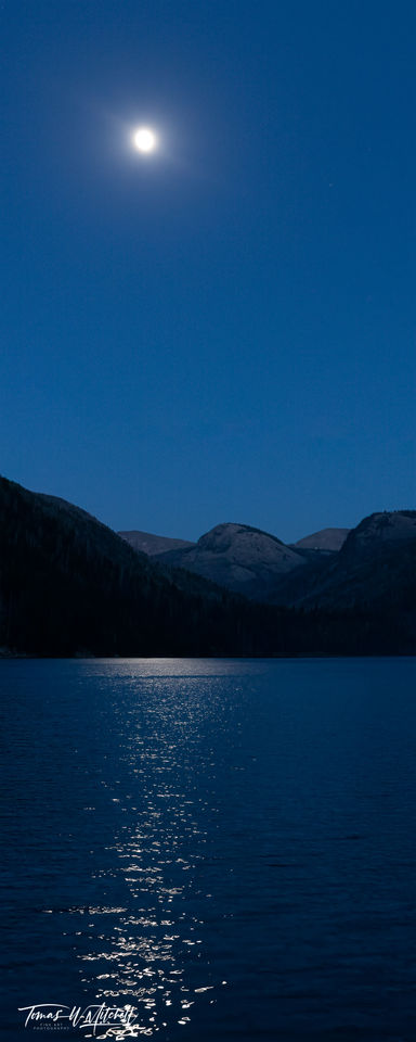 limited edition, fine art, prints, full moon, smith and morehouse reservoir, utah, buck moon, photograph, peaks, reflection, water, mountains, panoramic