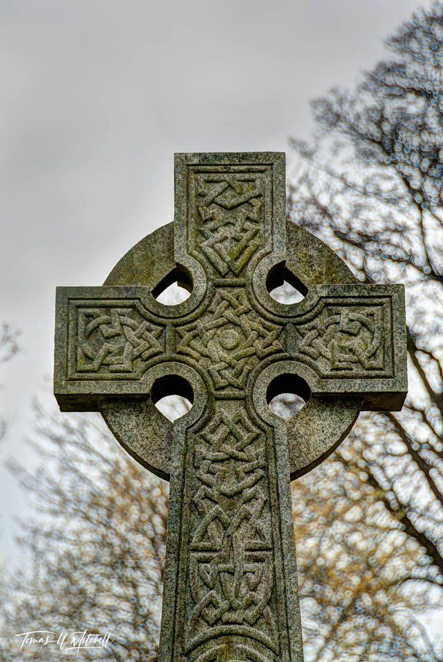 limited edition, fine art, prints, scotland, village, church, kirkyard, grave site, ancestors, gravestone, celtic cross, photograph