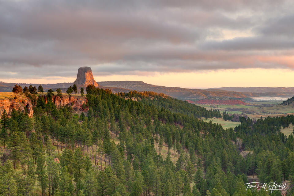 Devils Tower Wyoming from the north side.