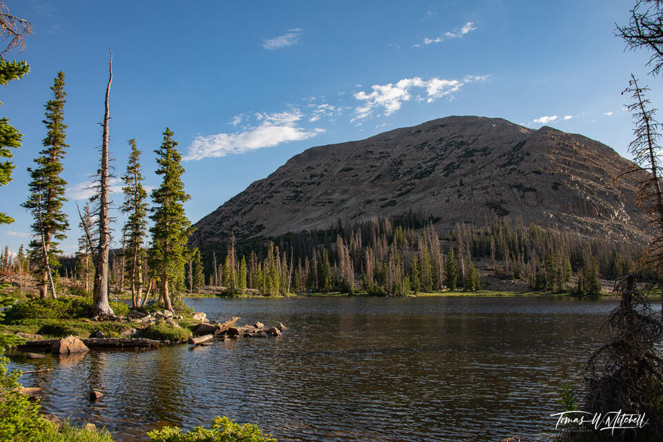 booker lake and mount watson, uinta mountains, utah.