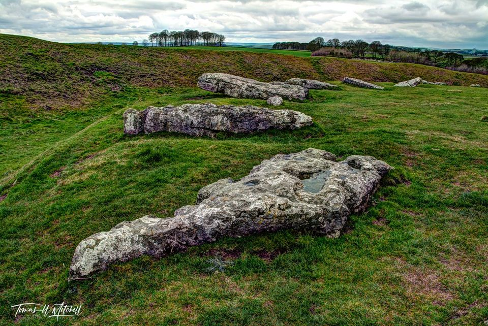 limited edition, museum grade, fine art, prints, photographing, arbor low, england, fallen gods, henge, stones, ancient, standing stones
