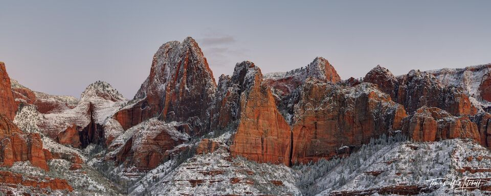kolob canyons, zion national park, utah, panoramic, clouds, limited edition, fine art prints