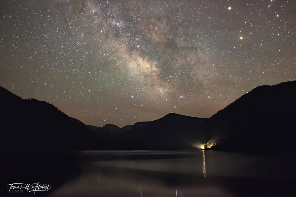 limited edition, fine art, prints, smith and morehouse reservoir, utah, milky way, galaxy, water, photograph, lake, mountains, light, shinning