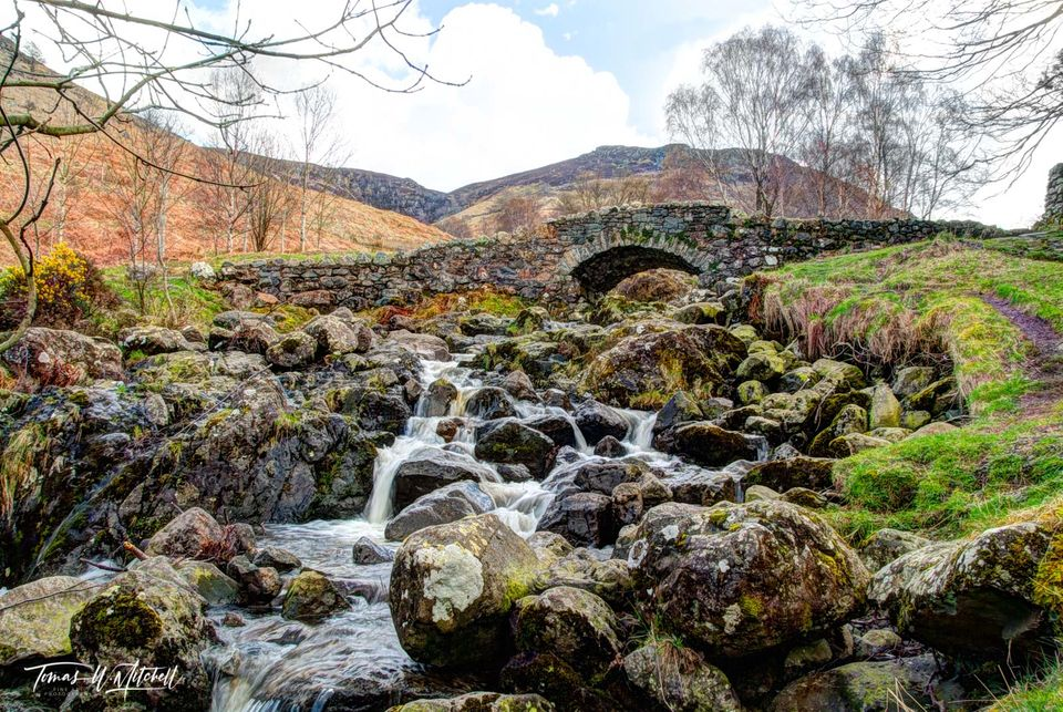 limited edition, museum grade, fine art, prints, river, trolls, ashness bridge, lake district, england, frozen, moss, rocks, magical, stone bridge, 1700's, forest side inn, grasmere,  old bridges