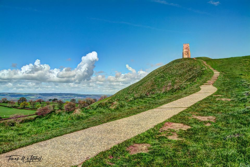 limited edition, museum grade, fine art, prints, photograph, glastonbury tor, somerset, england, history, celtic, mythology, Arthurian, legend, church of saint michael,  stairway to heaven, stairway,