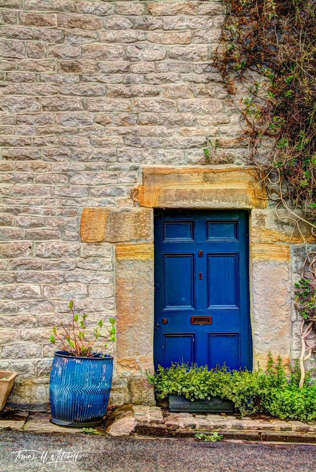 limited edition, museum grade, fine art, prints, castleton, england, small town, peak district, england, door, pot, blue, tardis, dr. who, british t.v.