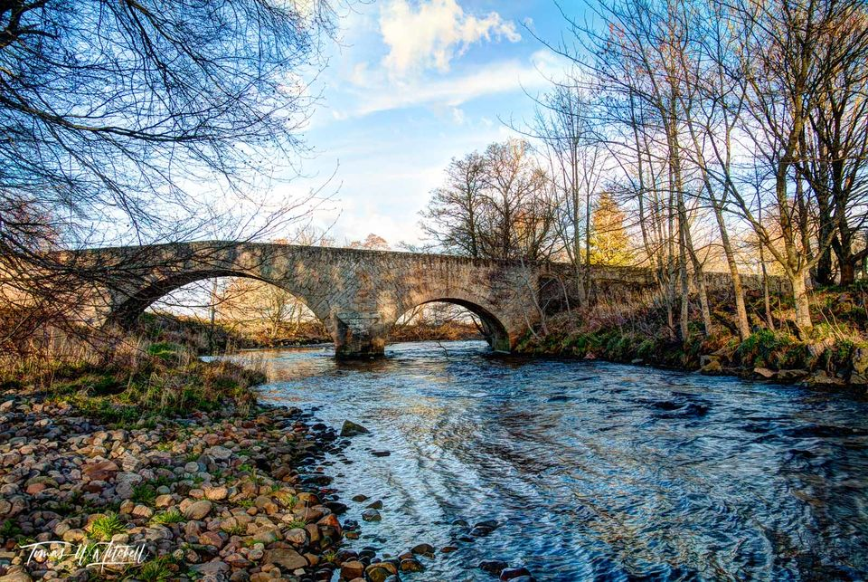 limited edition, museum grade, fine art, prints, bridge, river nairn, scotland, wade bridge, general wade, jacobite, King George I, highlands, road, cawdor castle, photograph, outlander