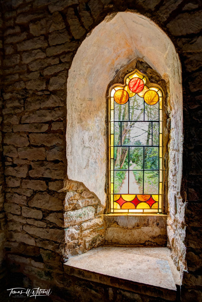 limited edition, museum grade, fine art, prints, painswick, england, window, stained glass, photographing, gardens, building, gloucester, Rococo Garden
