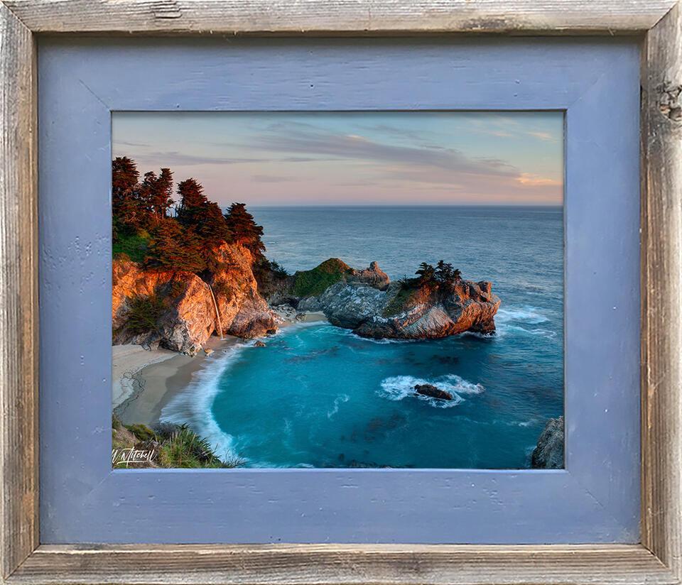 photograph, frame, barnwood, paper print, framed