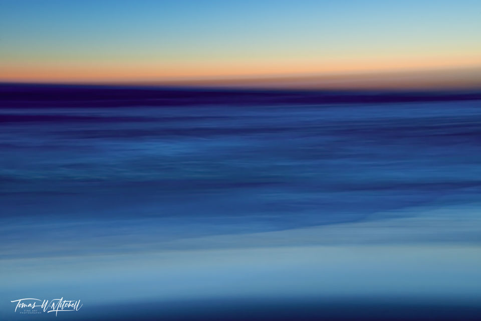 limited edition, fine art, prints, photograph, sunset, pacific grove, california, abstract, lapis lazuli, blue, ocean,