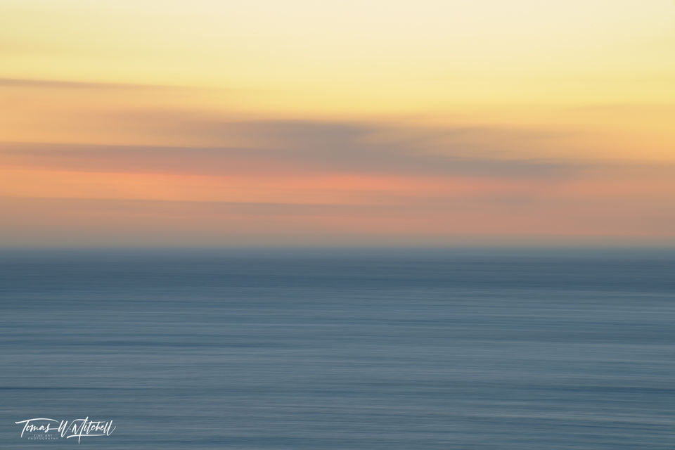 limited edition, fine art, prints, photograph, big sur, california, sunset, abstract, photography, pacific ocean, icm,