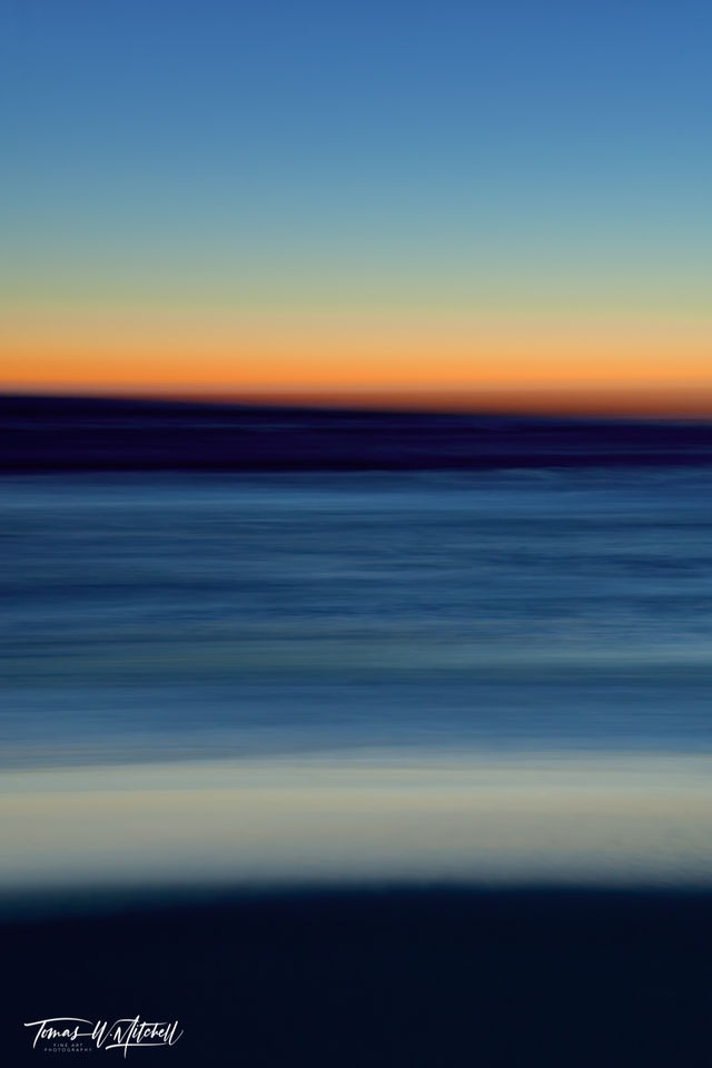 limited edition, fine art, prints, photograph, pacific grove, california, sunset, icm photography, abstract, ocean, beach, waves, summer