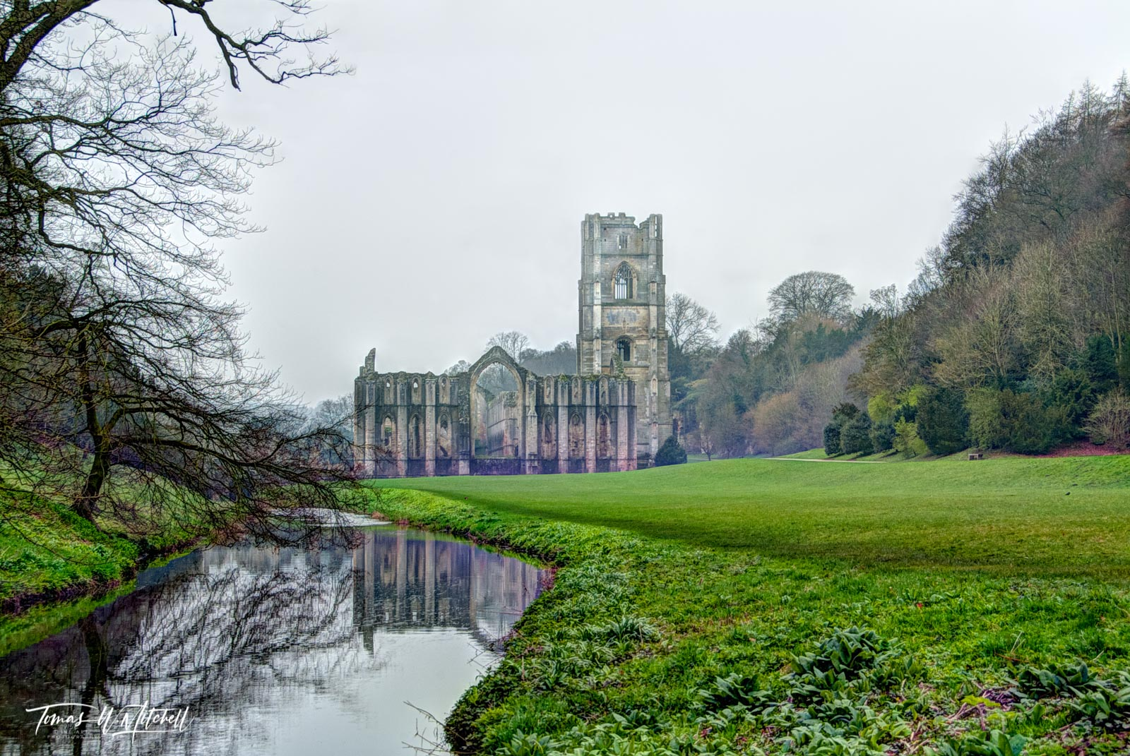 limited edition, museum grade, fine art, prints, fountains abbey, reflection, studley royal park, england, photographing, ruins, world heritage site, North Yorkshire, 18th century, landscape, garden, , photo