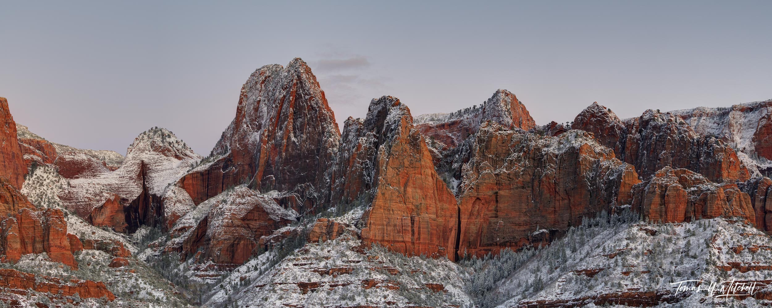 kolob canyons, zion national park, utah, panoramic, clouds, limited edition, fine art prints, photo