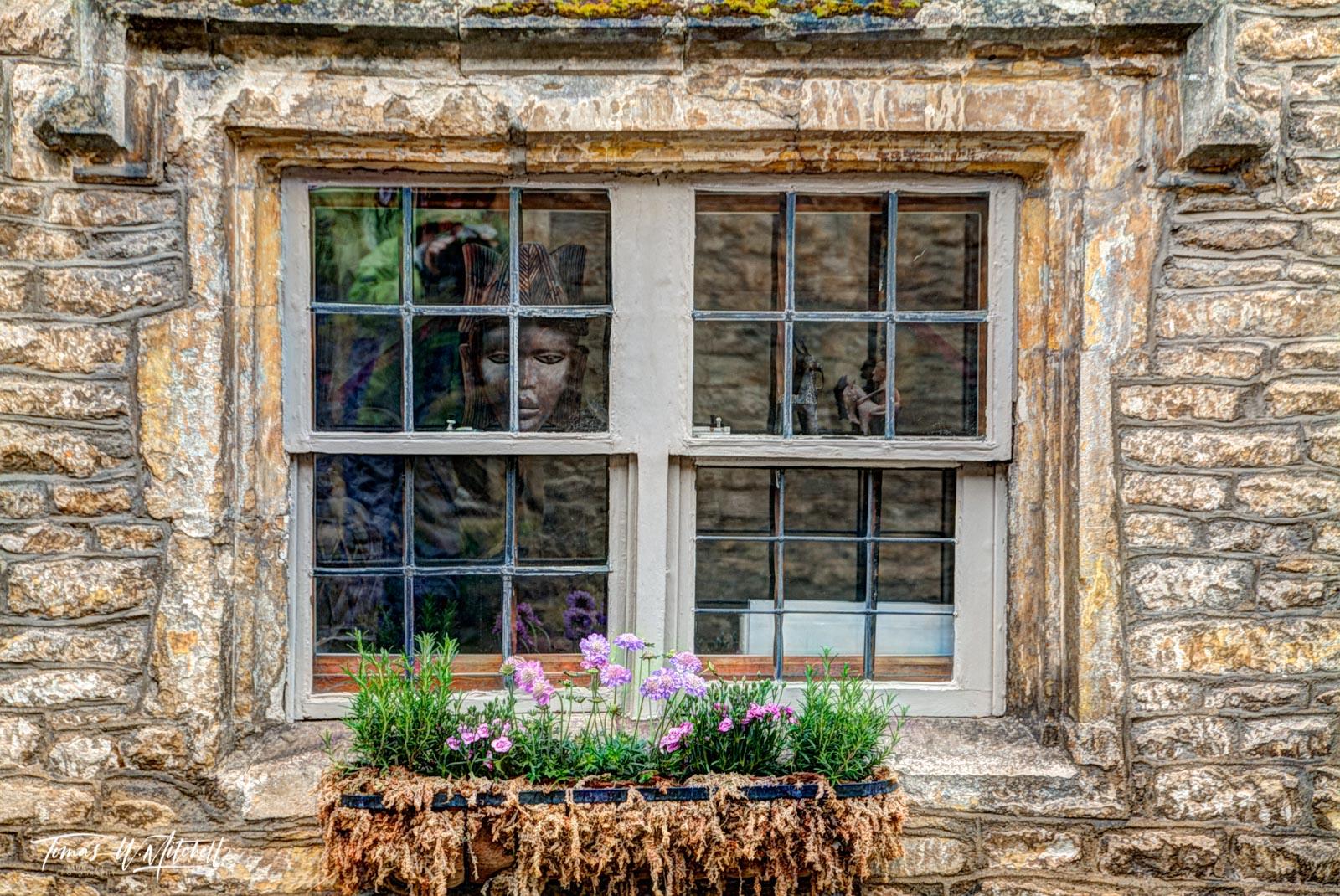 Fine Art, Museum Grade, prints, England, Castle Combe, Cotswolds, mask, window, photograph, photo