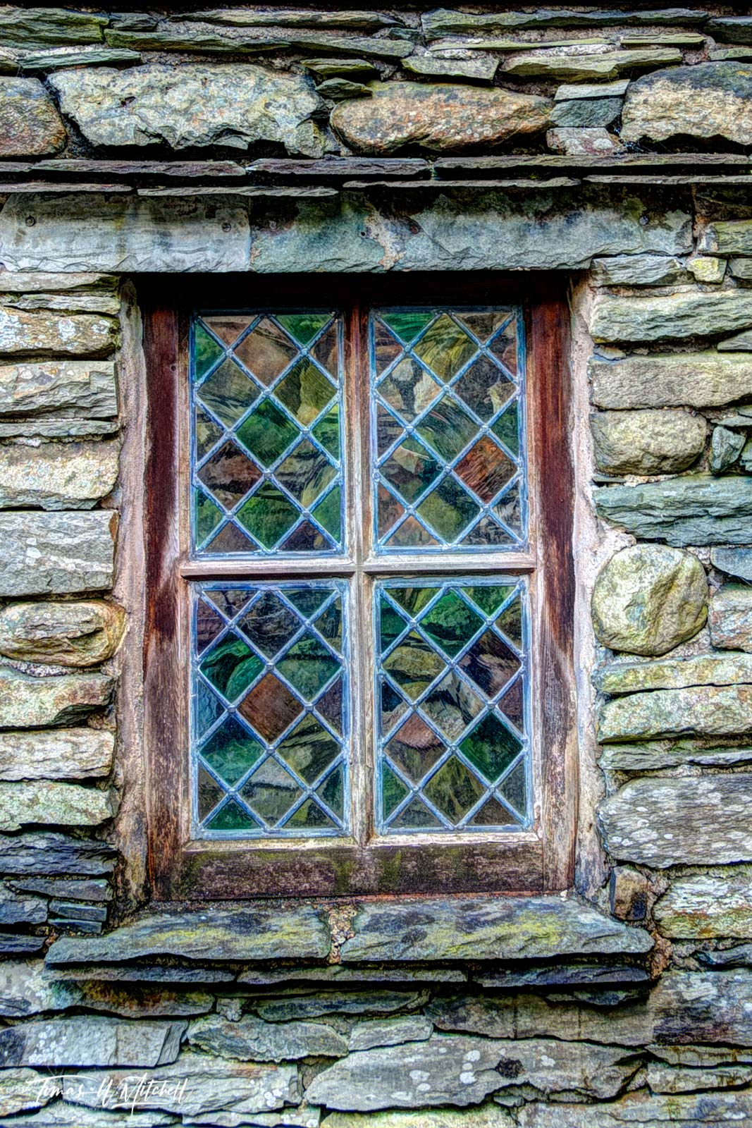 limited edition, museum grade, fine art, prints, photograph, window, grasmere, lake district, england, doors, reflection, rainbow, color, building, forest side hotel, photo