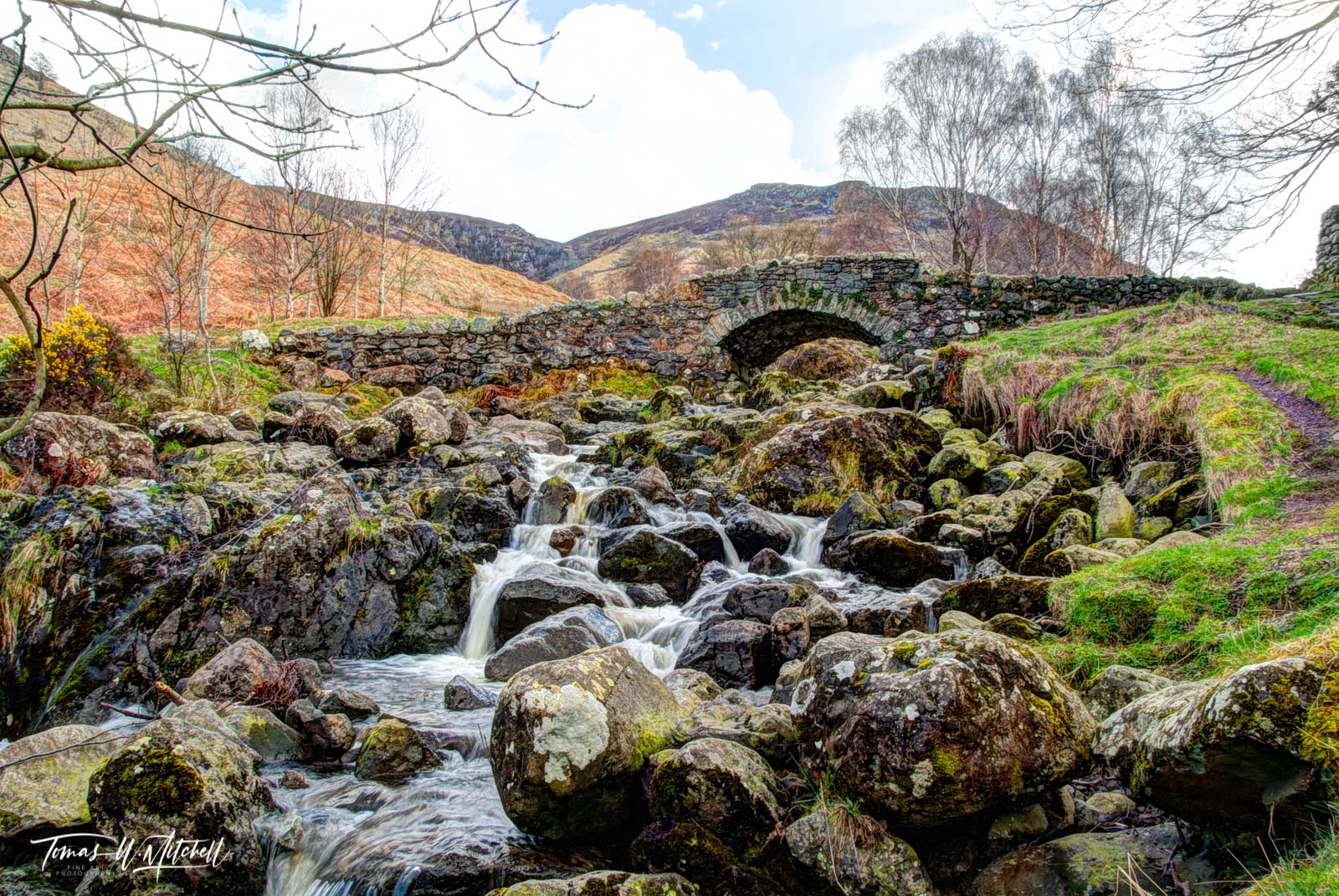 limited edition, museum grade, fine art, prints, river, trolls, ashness bridge, lake district, england, frozen, moss, rocks, magical, stone bridge, 1700's, forest side inn, grasmere,  old bridges, photo