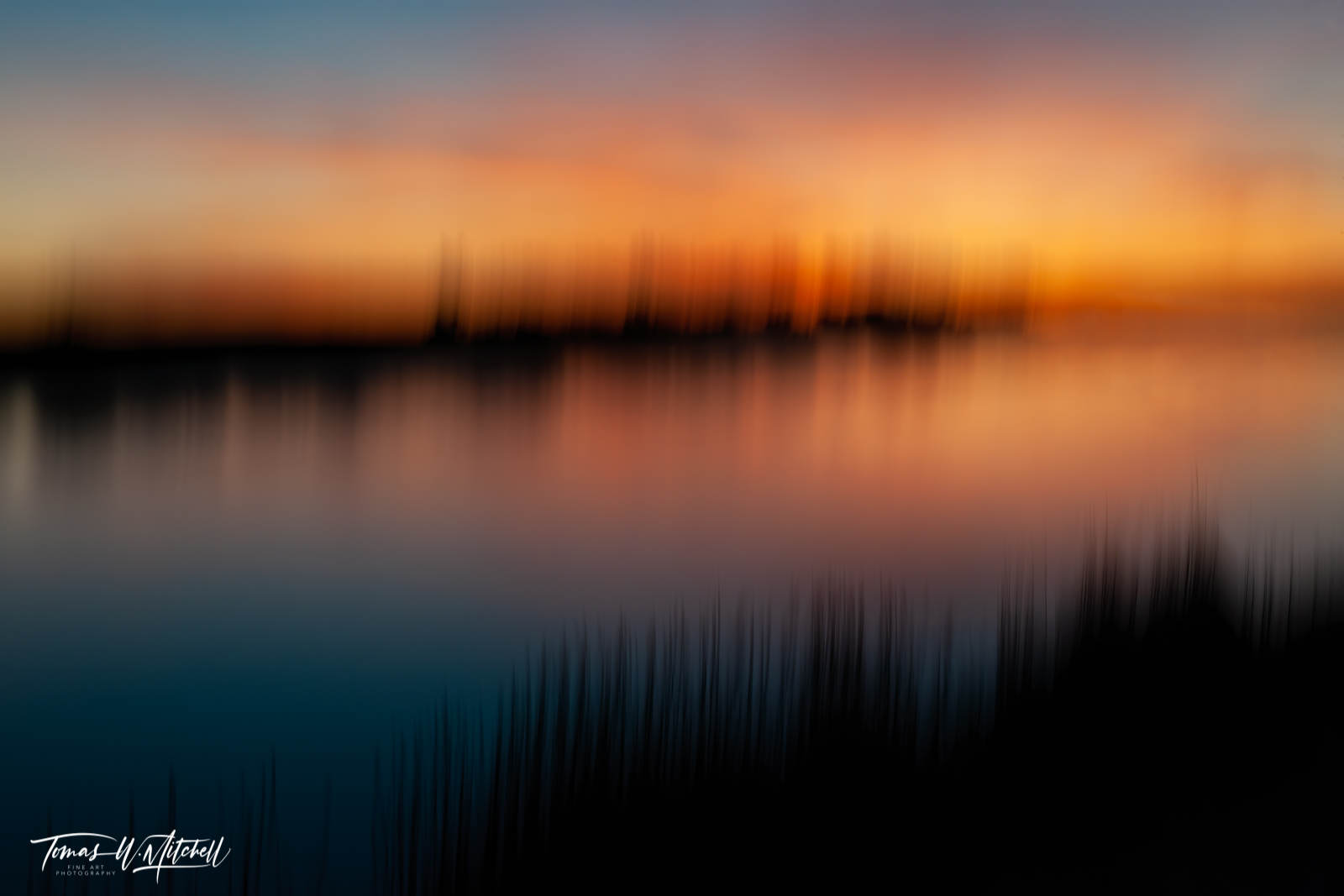 limited edition, fine art, prints, seedskadee national wildlife refuge, wyoming, green river, summer, sunset, cattails, abstract, icm, reflection, photograph, photo