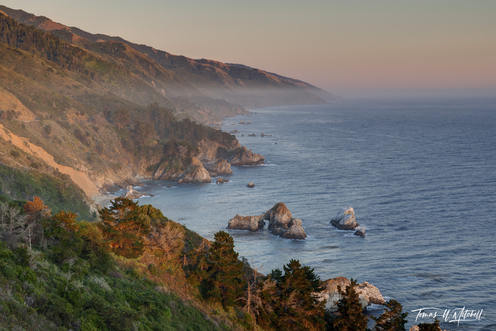 Limited Edition of 100 Museum Grade, Fine Art Prints. Vista Point in Julia Pfeiffer Burns State Park, is a spectacular place...