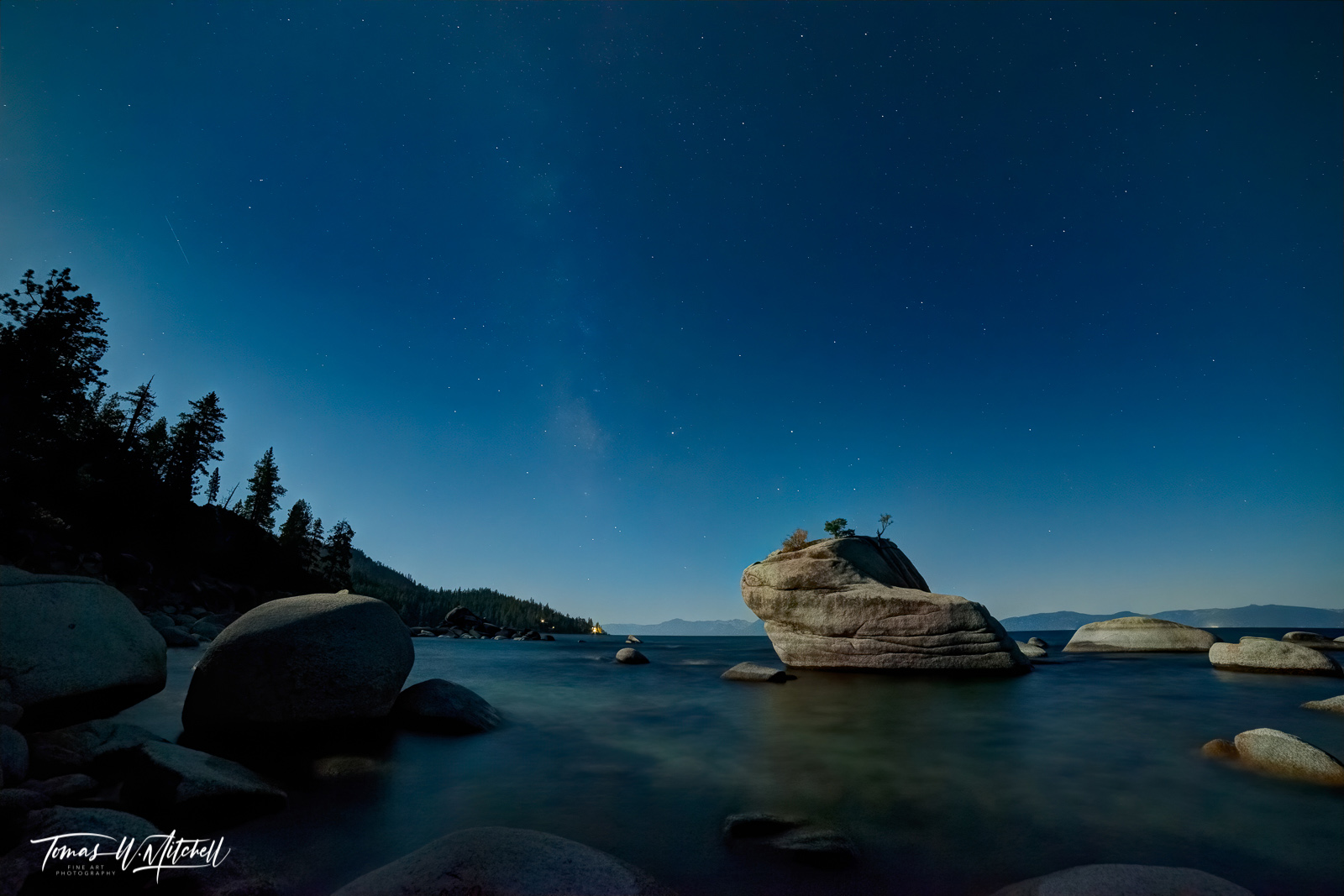 Limited Edition of 100 Museum Grade, Fine Art Prints. Bonsai Rock at Lake Tahoe Nevada is an amazing place! The shoreline of...