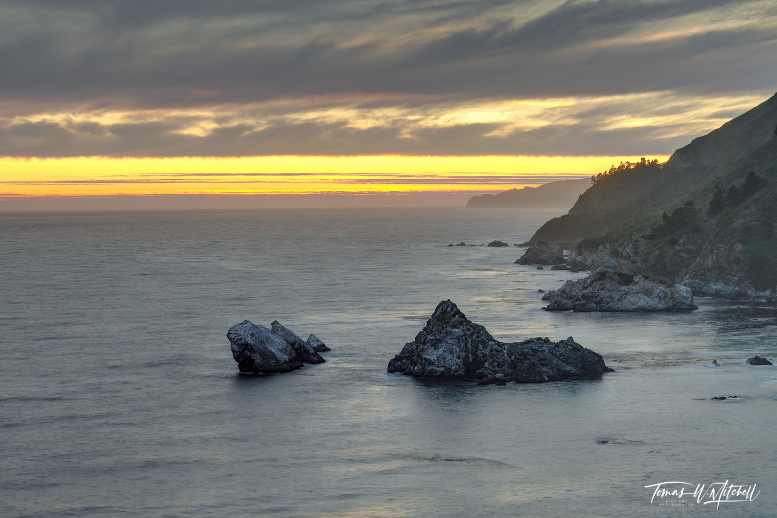 big sur, california, limited edition, museum grade, fine art prints, mountains, ocean, rocky beaches, forests, redwood trees, pacific coast highway, monterey county, sunset, photo